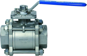 GENEBRE 3-Piece FB Ball Valve, w.Square Shaft, 316 PN64 EU FF 3