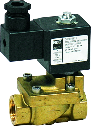 Solenoid Valves For Gas Brass Pilot Operated Simple